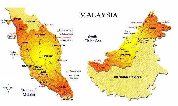 Map - Malaysia map